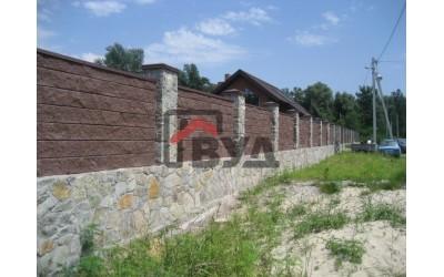 Заборные блоки в Диевке (Лесопарк)