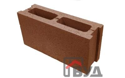 Блок заборный гладкий 390х120х188