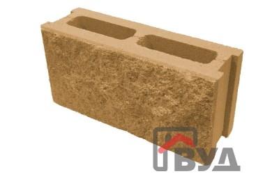 Блок заборный декоративный 390х120х188