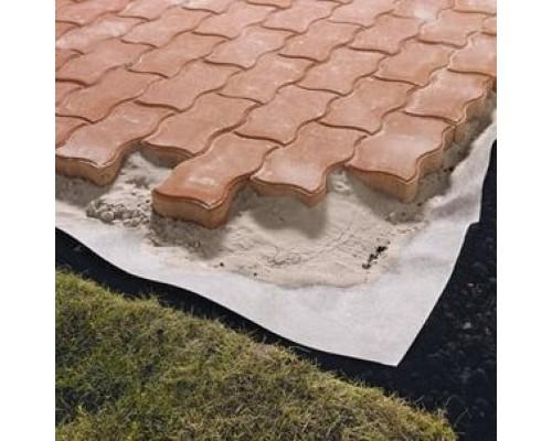 Укладка тротуарной плитки с использованием геотекстиля