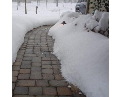 Уход за тротуарной плиткой зимой