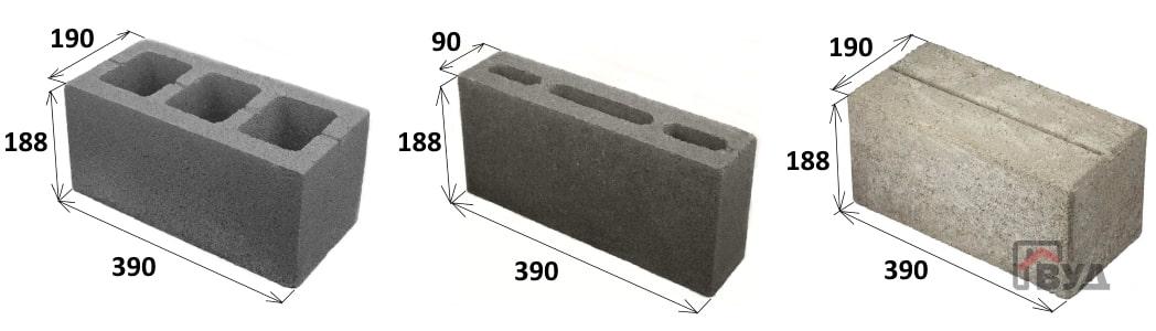 Размер шлакоблока
