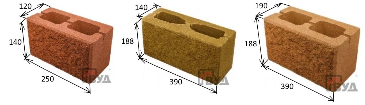 Размеры заборных блоков